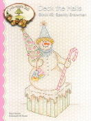 Crabapple Hill Studio Deck the Halls Sparkly Snowman Christmas hand embroidery pattern