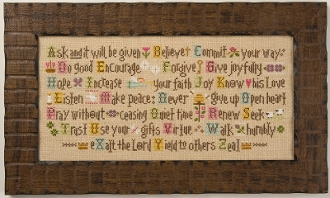 Lizzie Kate ABCs of Faith Counted cross stitch Pattern and Threads
