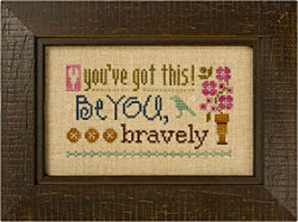 Lizzie Kate Flip-It, You've Got This - Counted cross stitch pattern, chart, button