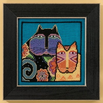 Mill Hill Laurel Burch Feline Friends Cats beaded counted cross stitch kit