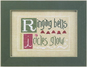 Lizzie Kate Double Flip, RIST - Christmas Counted cross stitch pattern, chart, buttons