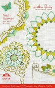 Heather Bailey hand Embroidery patterns Fresh Flowers quilt labels and frames hot iron on transfers