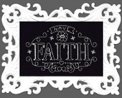 Design Works Crafts Have Faith counted cross stitch picture kit
