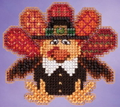 Mill Hill Autumn Harvest collection Tom Turkey Thanksgiving counted cross stitch ornament kit