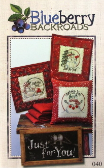 Blueberry Backroads - Just for You Snowmen Hand Embroidery Patterns