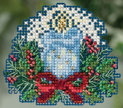Mill Hill Winter Holiday collection Candlelight MH18-5306 Christmas Ornament counted cross stitch kit with treasure