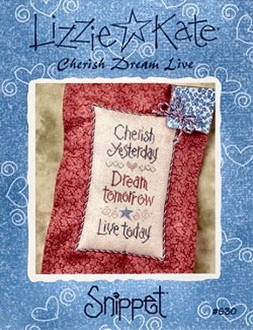 Lizzie Kate Snippet S30 - Cherish Dream Live counted cross stitch pattern