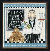 Design Works Crafts Counted Cross Stitch Picture kit - Cheap Wine