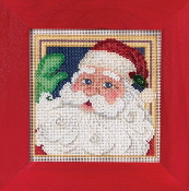 Mill Hill Christmas Counted cross stitch kit - Jolly St Nick