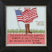 Mill Hill Curly Girl Design - Brave Hearts inspirational beaded counted cross stitch kit