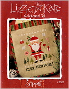Lizzie Kate Snippet Celebrate Santa 15 Christmas Counted cross stitch pattern, chart with embellishments