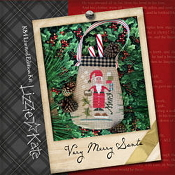 Lizzie Kate - Very Merry Santa Christmas counted cross stitch kit