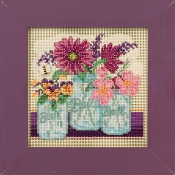 Mill Hill Spring Series Cut Flowers beaded counted cross stitch kit