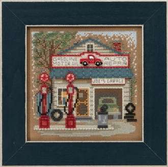 Mill Hill Spring Series Joe's Garage beaded counted cross stitch kit