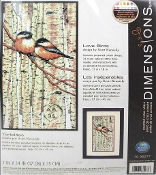 Dimensions Counted cross stitch picture kit - Love Birds