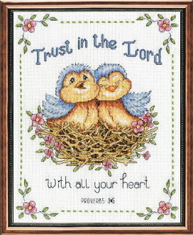 Design Works Crafts Trust in the Lord counted cross stitch picture kit