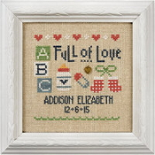 Lizzie Kate - A Little Baby counted cross stitch pattern, fabric, charm