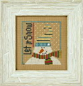 Lizzie Kate Flip-It, Let It Snow - Snowman Counted cross stitch pattern chart with button