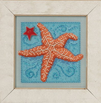 Mill Hill Spring Series Starfish beaded counted cross stitch kit