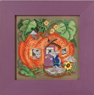 Mill Hill Autumn Series Mouse House beaded counted cross stitch kit