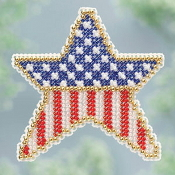 Mill Hill spring collection Patriotic Star ornament beaded cross stitch kit