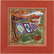 Mill Hill Autumn Series Country Quilts beaded counted cross stitch kit
