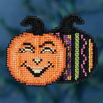 Mill Hill Autumn Harvest collection Pumpkin Patch Halloween counted cross stitch ornament kit