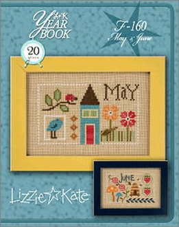 Lizzie Kate Double Flip, May June Yearbook Series Counted cross stitch pattern chart with charms