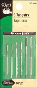 Dritz Size 18/22 Tapestry Needles - 6 per package