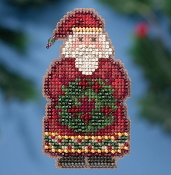 Mill Hill Winter Holiday collection Ye Old Santa MH18-1636 Christmas Ornament counted cross stitch kit with treasure