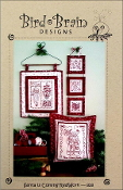 Bird Brain Designs Santa is Coming RedWork hand embroidery patterns