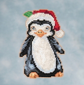 Jim Shore by Mill Hill - Penguin JS20-1614 Christmas Ornament beaded counted cross stitch kit