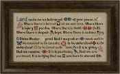 Lizzie Kate Prayer of St Francis Counted cross stitch pattern chart