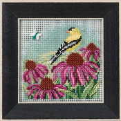 Mill Hill Spring Series Goldfinch beaded counted cross stitch kit