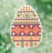 Mill Hill Spring Bouquet Collection Trellis Egg Easter beaded counted cross stitch ornament kit
