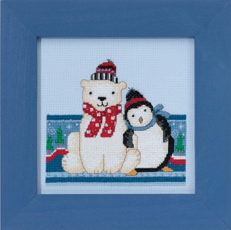 Mill Hill Polar Opposites - Polar Peace beaded counted cross stitch kit