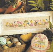 Lizzie Kate Chick Party Easter Counted cross stitch pattern chart