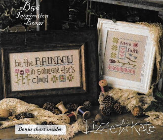 Lizzie Kate Boxer - Be The Rainbow counted cross stitch pattern, linen and buttons