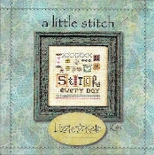 Lizzie Kate - A Little Stitch counted cross stitch pattern fabric charm