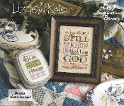 Lizzie Kate Boxer - Be Still counted cross stitch pattern, linen and charm