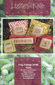 Lizzie Kate Tiny Tidings XVIII Christmas counted cross stitch chart with embellishments
