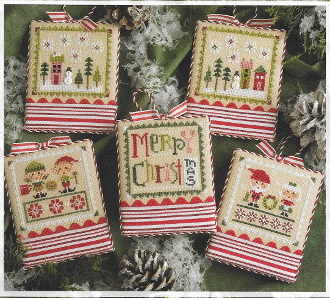 Lizzie Kate Tiny Tidings XXII Christmas counted cross stitch chart with embellishments