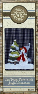 The Wooden Bear - Joyful Snowman hand Embroidery applique pattern