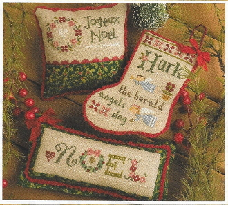 Lizzie Kate 2017 Flora McSample Treats Christmas Counted Cross Stitch chart with embellishments