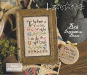 Lizzie Kate Boxer - Do The Right Thing counted cross stitch pattern, linen and button