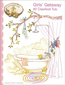 Crabapple Hill Studio Clawfoot Tub hand embroidery pattern