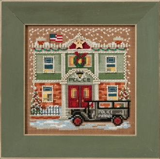 Mill Hill Christmas Counted cross stitch kit - Police Station