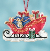 Mill Hill Sleigh Ride Charmed Ornaments Traditional Sleigh MH16-1736 Christmas Ornament counted cross stitch kit