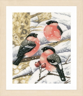 Lanarte Bullfinch counted cross stitch picture kit