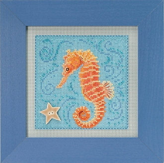 Mill Hill Spring Series Seahorse beaded counted cross stitch kit